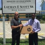 Cayman Brac student wins laptop