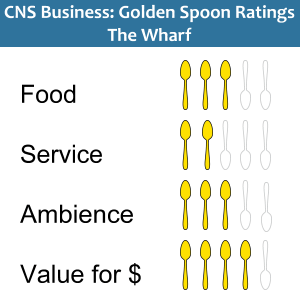 Golden Spoons Review of The Wharf