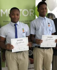 (L-R) Fabian O'Conner and Joel Hyn took third place