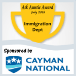 Ask Auntie Award for Department of Immigration