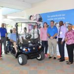Golf cart donated to transport patients