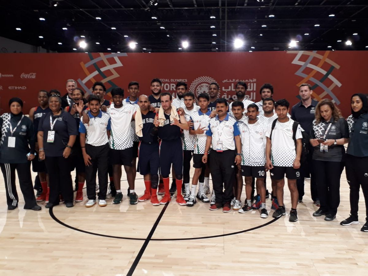 Cayman and Indian basketball teams