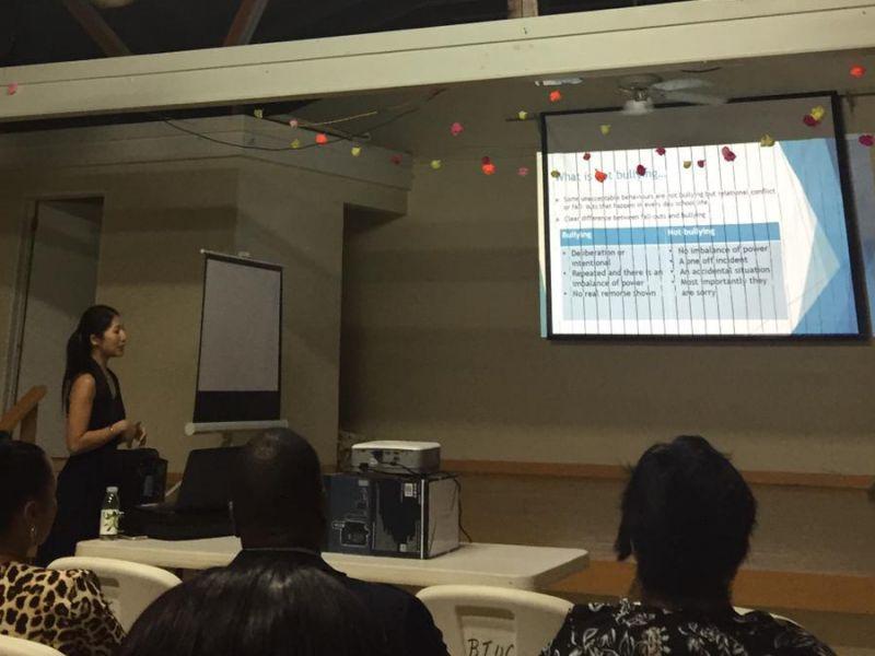 Erica Lam presenting
