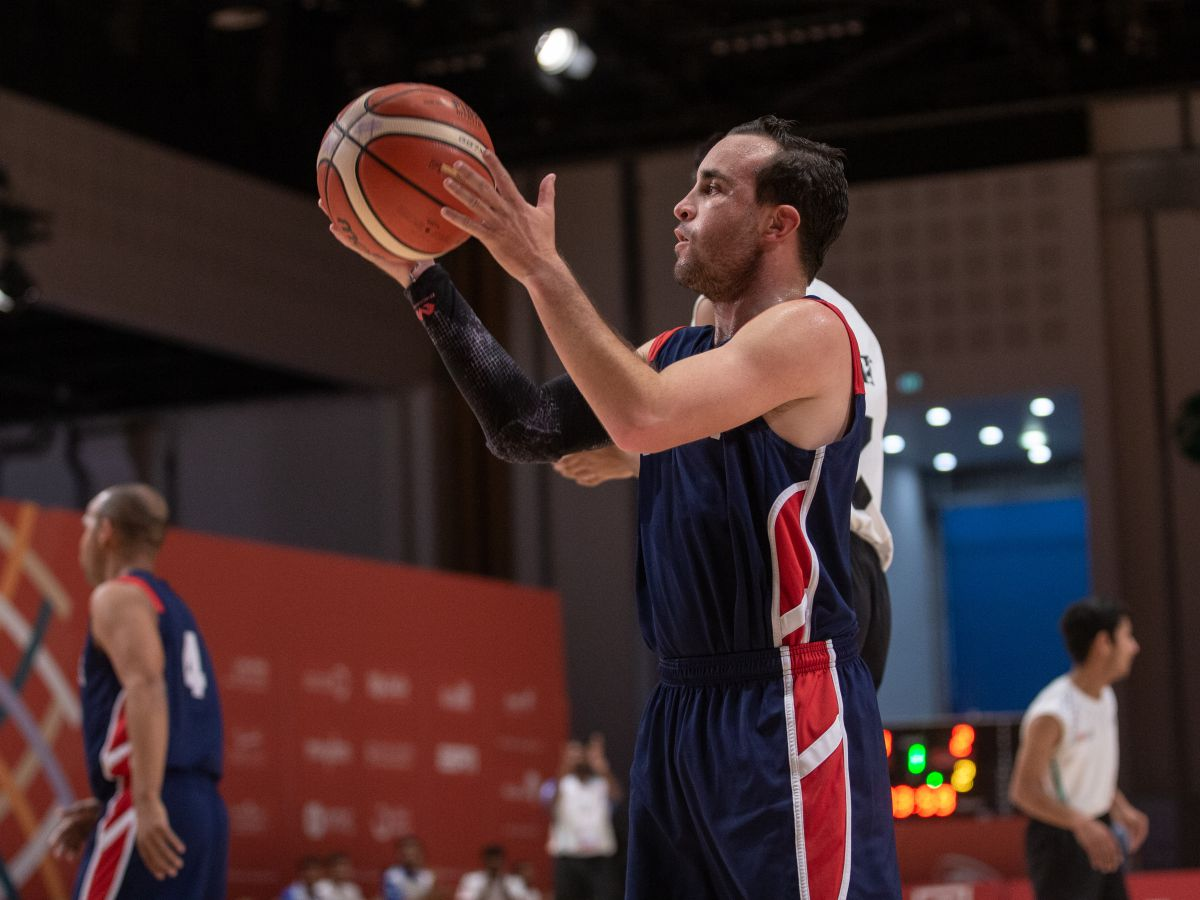 Shaun Ebanks during the gold-medal basketball match