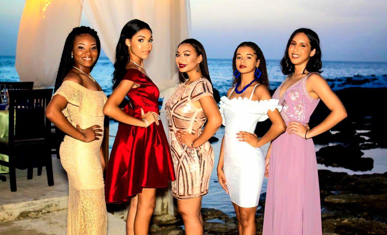 Miss Teen Cayman contestants (L-R) Amelia Lamie, Ashley Gooden, Sadé Parchment, Jada Bodden and Monina Thompson