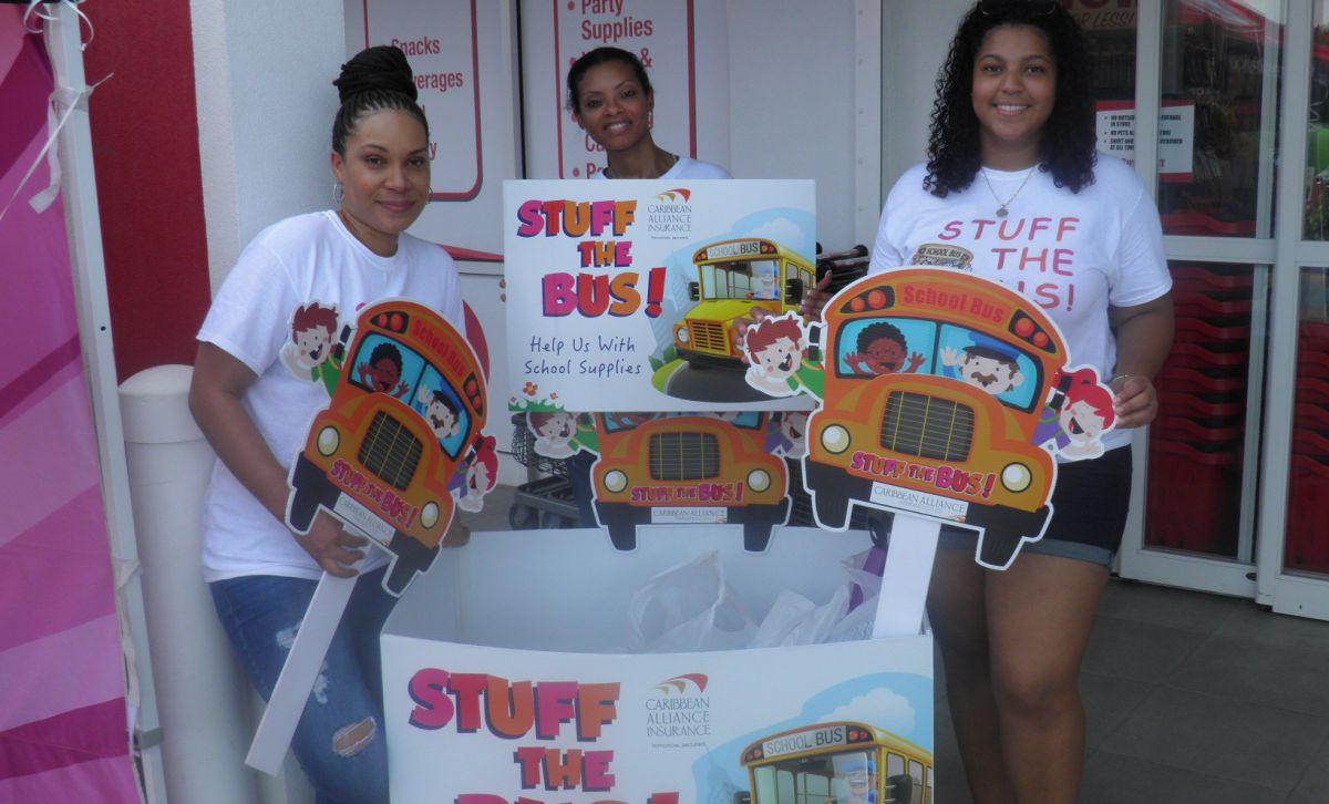 (L-R) Aleisha Lalor, Latoya Webb and Sabrina Dennis-Elgueta from Caribbean Alliance during 2018 drive efforts