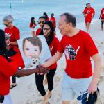 Beach walk fundraiser for children with heart disease
