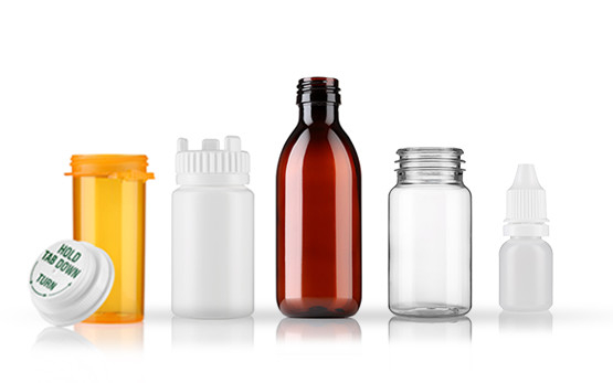 plastics and glass packaging