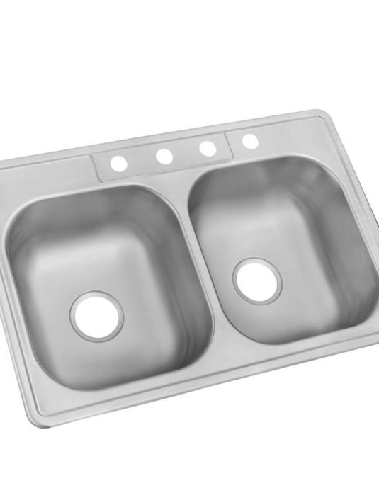 drop-in stainless steel kitchen sink