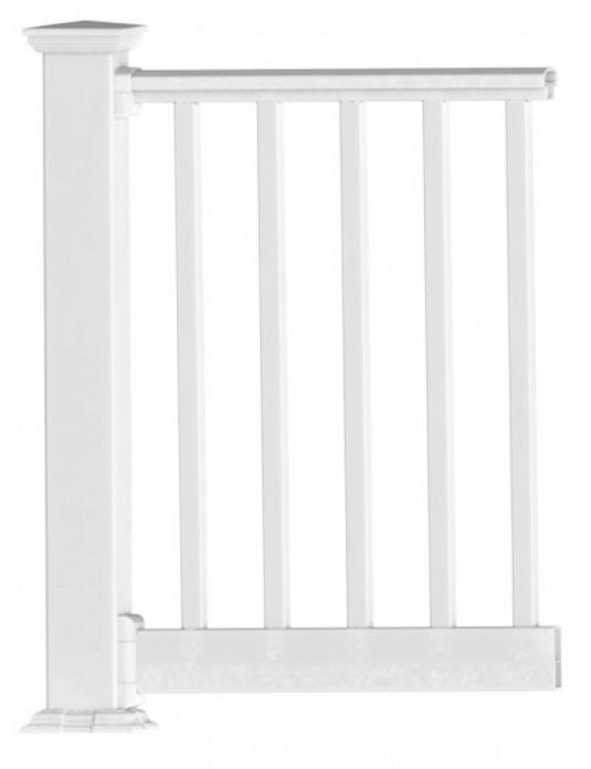 pvc deck railing