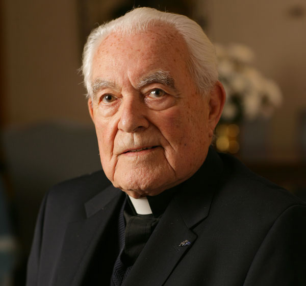 Holy Cross Father Theodore Hesburgh, former president of the University of Notre Dame, died Feb. 26 at age 97. He is pictured in a 2006 photo. (CNS/courtesy University of Notre Dame)