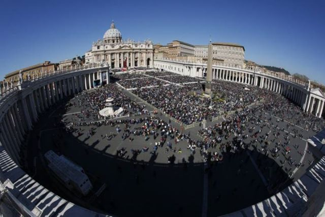 St. Peter's Square at the Vatican earlier this year. (CNS/Paul Haring)
