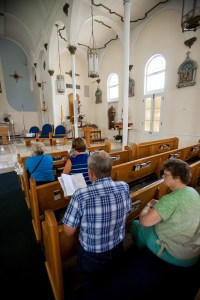 The Basilica of St. Mary Star of the Sea in Key West, Fla., was the last stop of a daylong Fortnight for Freedom pilgrimage to the five Catholic parishes of the Florida Keys. (CNS/Tom Tracy)