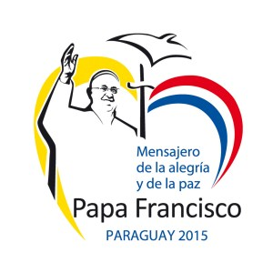 Official logo for the July 10-12 visit of Pope Francis to Paraguay. The pope will also visit Ecuador and Bolivia during his July 5-12 trip to Latin America. (CNS photo)