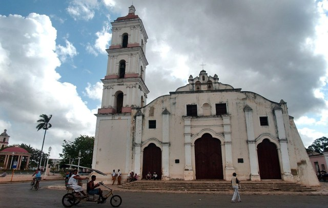 A general view of the Catholic parish of San Juan Bautista, located at the historic center of Remedios, Cuba, is pictured in this undated photo. (CNS/EPA)