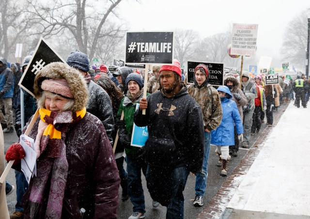 "The U.S. bishops' annual ""9 Days for Life"" prayer and action novena takes place close to the Jan. 22 anniversary of the 1973 Supreme Court decision legalizing abortion and the annual March for Life. (CNS/Gregory L. Tracy, The Pilot)"
