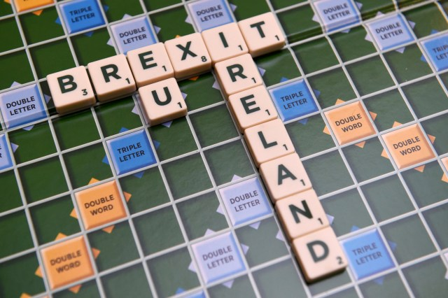 "A scrabble board spells out ""Brexit"" in Dublin May 4. An English bishop said groups such as CAFOD, the overseas aid agency of the Catholic Church in England and Wales, and SCIAF, the Scottish Catholic International Aid Fund, could lose grants following a ""Brexit"" victory in a referendum June 23. (CNS photo/Clodagh Kilcoyne, Reuters)"