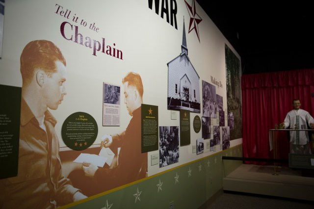 An exhibit at the U.S. Army Chaplain Corps Museum at Fort Jackson in Columbia, S.C. (CNS/Chaz Muth)