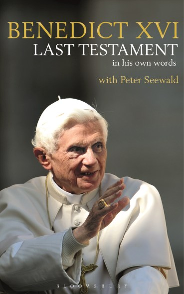"""""""Last Testament,"""" an interview retired Pope Benedict XVI did with German author Peter Seewald, will be released in English by Bloomsbury in November. (CNS photo/courtesy Bloomsbury)"""