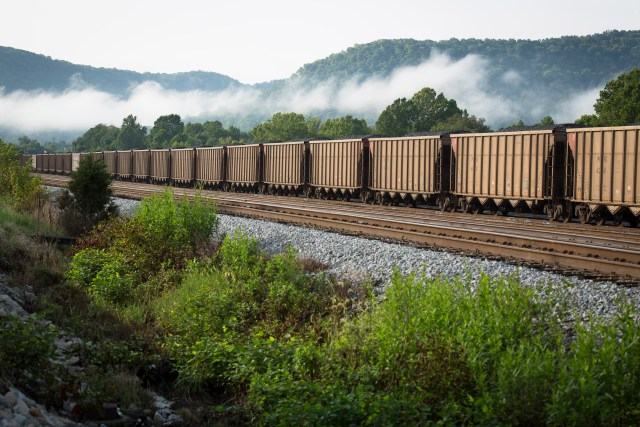 A train carries coal near Ravenna, Ky., in this 2014 photo. (CNS file/Tyler Orsburn)