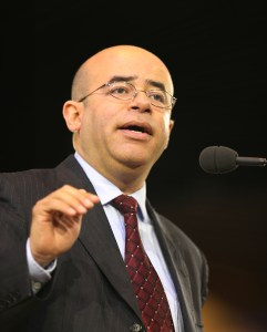 """Hosffman Ospino speaks July 2 during the """"Convocation of Catholic Leaders: The Joy of the Gospel in America"""" in Orlando, Fla. (CNS/Bob Roller)"""