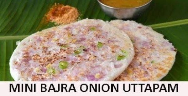 Mini Bajra Onion Uttapam