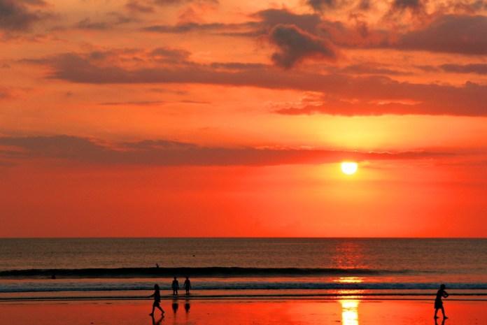 sunset at Kuta Beach Bali