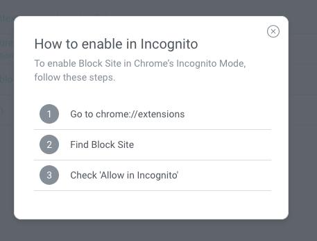 Blocksite Extension Settings Tab