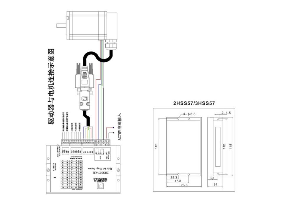 2 phase NEMA 24 3N.m 425ozf.in Closed loop Stepper servo