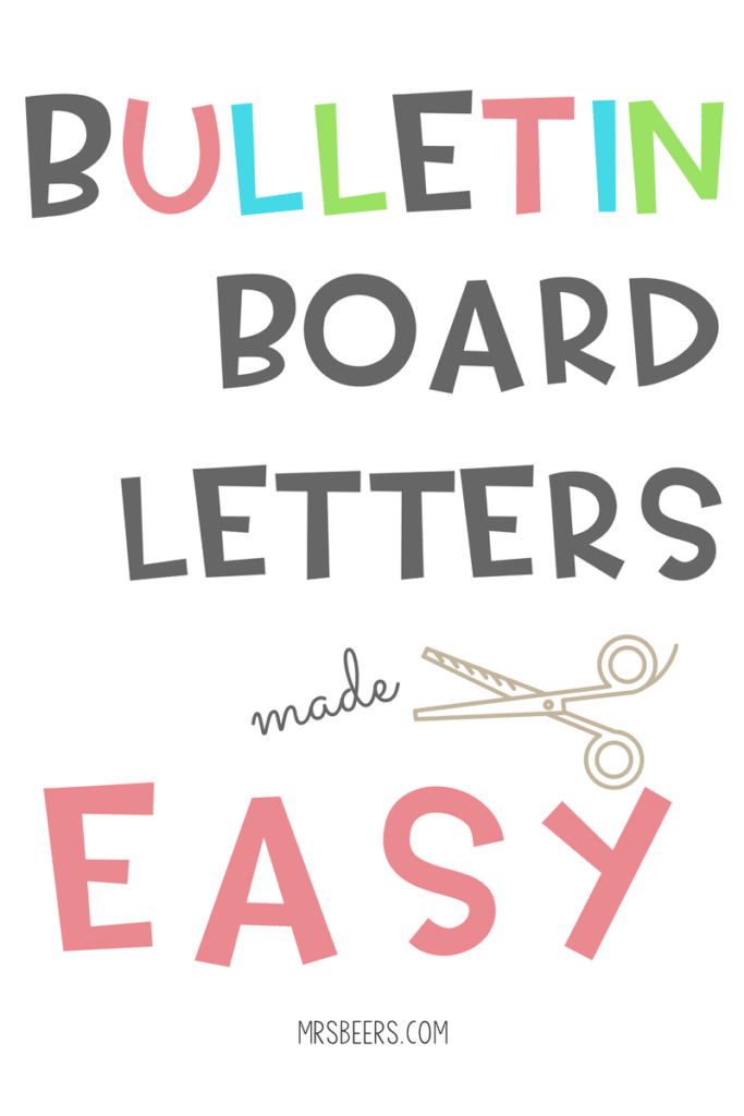 Free Printable Bulletin Board Letters : printable, bulletin, board, letters, BULLETIN, BOARD, LETTERS
