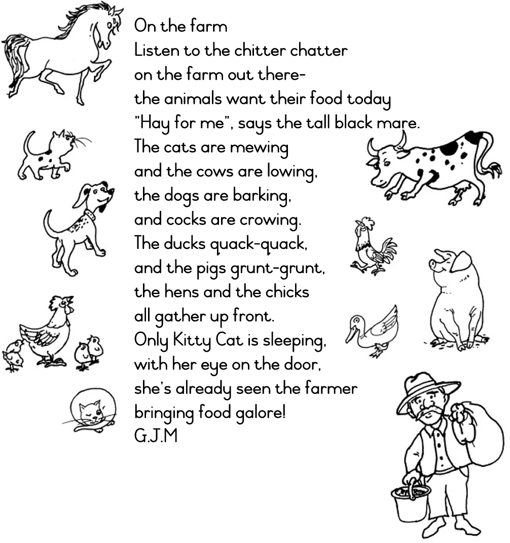 "Search Results for ""Poem Farm Animals Printables"