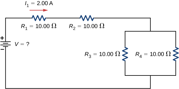 the potential difference across a resistor is 44