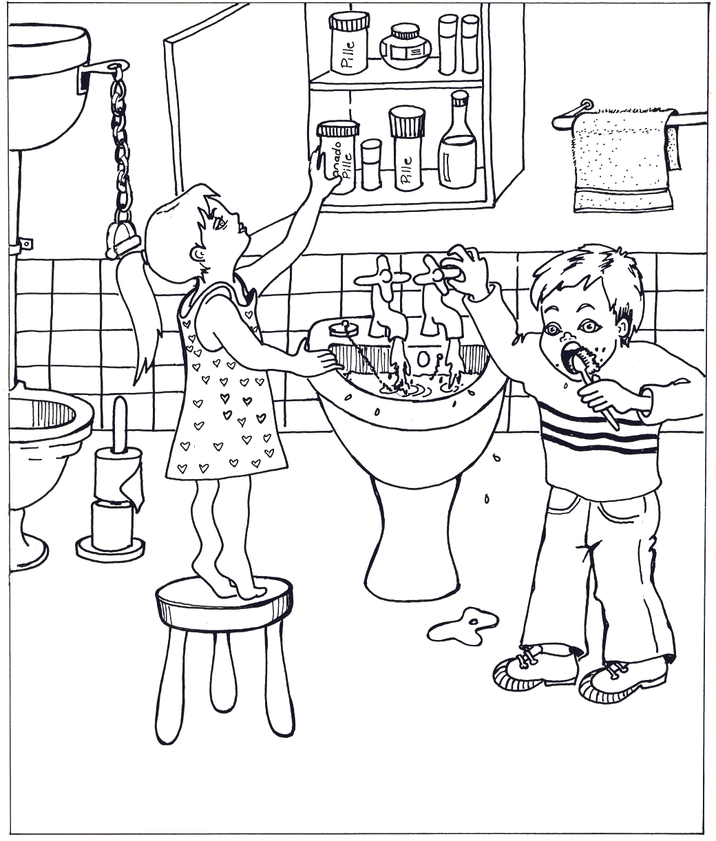 Bathroom Worksheets Coloring Pages