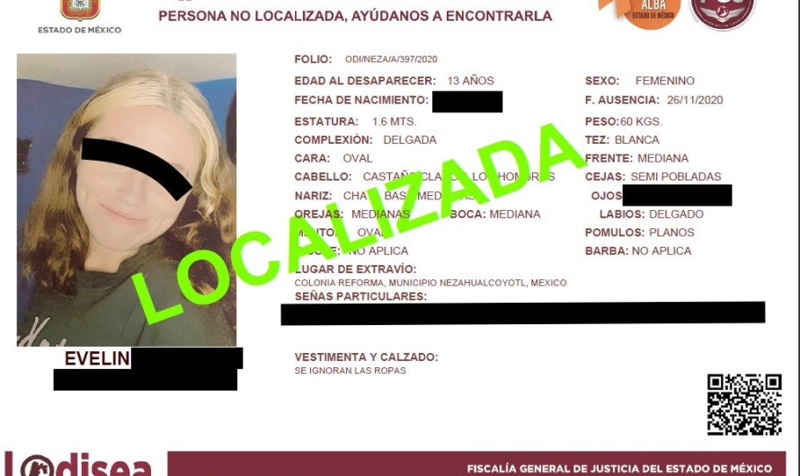 Dudas en torno al caso de una menor que había desaparecido en Neza