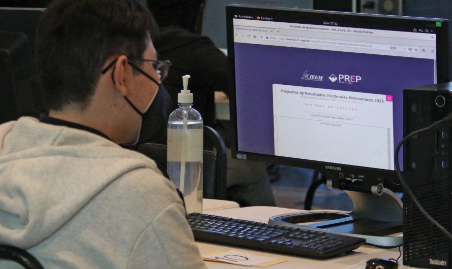 Instituto Electoral mexiquense realizó tercer simulacro del PREP