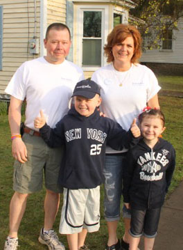 The McLaughlin family on Alex's Wish Day