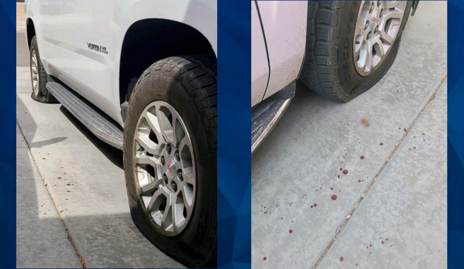 Arizona tire-slasher leaves behind severed finger, blood trail to house