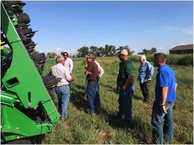 Southern Colorado producers on a soil health tour in South Dakota at Cronin Farm