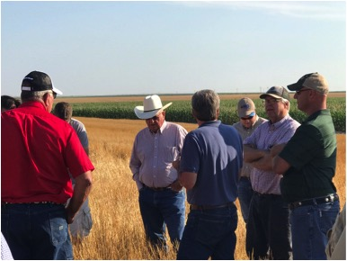 Southern Colorado producers on a soil health tour in South Dakota at Marv Shumaucher's Farm