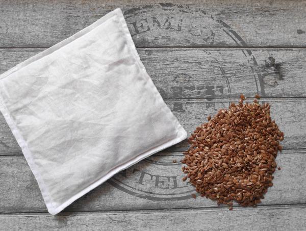 Bouillotte sèche aux graines de lin biologiques