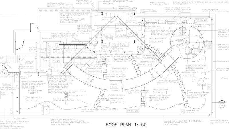 Rooftop layout