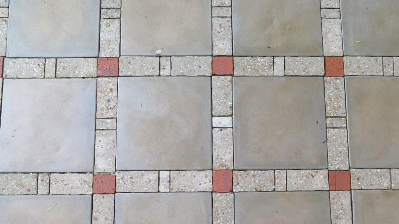 Paving detail, red accent from the house facebrick