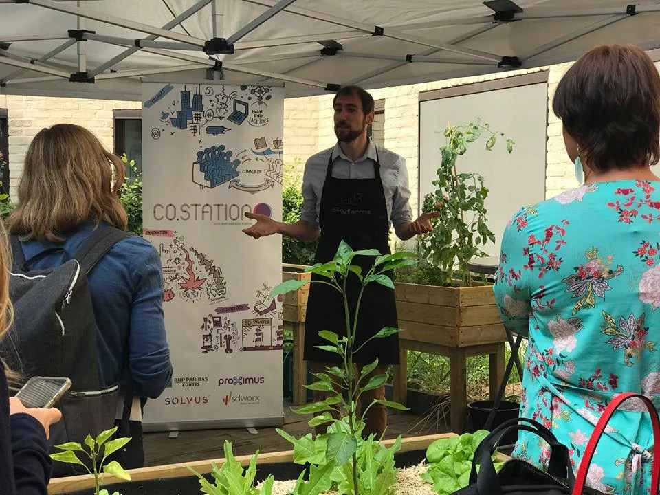 BNP Paribas Fortis, together with SkyFarms created an urban farm at Co.Station
