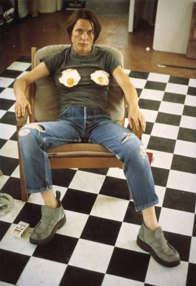 'Self Portrait with Fried Eggs' from artist Sarah Lucas