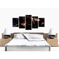 Extra Large Sensual Couple Canvas Wall Art 5 Panel in