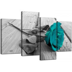 Pink Sofa Bed For Sale Thomasville Twin Sleeper Canvas Prints Uk Of Teal Rose In Black & White Your ...