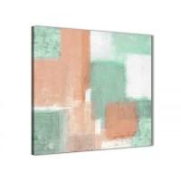 Peach Mint Green Bathroom Canvas Wall Art Accessories