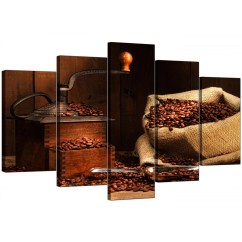 Amazon Sofa Set Togo Dimensions Extra Large Coffee Beans Canvas Wall Art 5 Piece In Brown