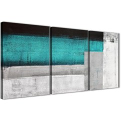 Grey And White Sofa Bed Sleeper Waterproof Mattress Cover 3 Panel Teal Turquoise Painting Office Canvas Wall ...