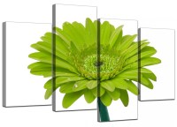 Canvas Wall Art of Flower in Lime Green for your Living Room